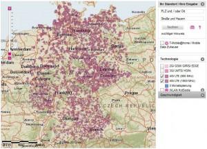 Telekom Lte Netzabdeckung Karte.Lte Karte Der 4g Ausbau Der Deutschen Netzbetreiber Lte Karte