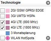 LTE-Karte-T-Mobile Auswahl